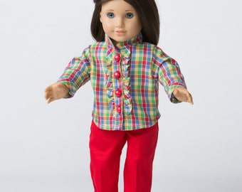 Mad For Plaid! Shirt and Pants for 18-Inch Doll