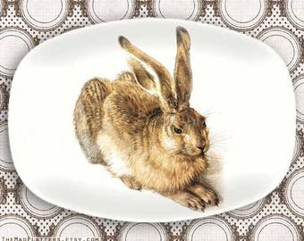 Rabbit serving platter