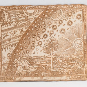 Flammarion engraving - laser woodcut version - Wall art Classic