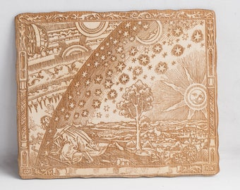 Flammarion engraving - laser woodcut version - Wall art Classic