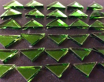 EMERALD TRIANGLE MIRROR Tiles Green Color Glass Mirror Mosaic Tile M7