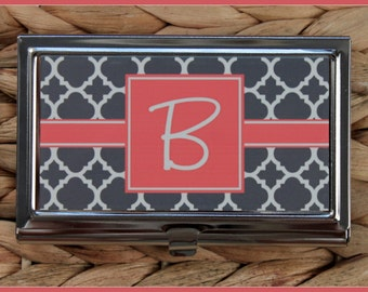 Gifts for Co Workers Business Card Case Personalized Monogrammed Gifts Monogram Personalized Gift Corporate Office Mate Friend