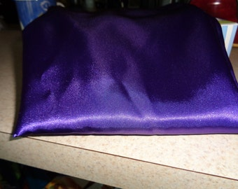 1/2 yard of grape purple costume weight satin