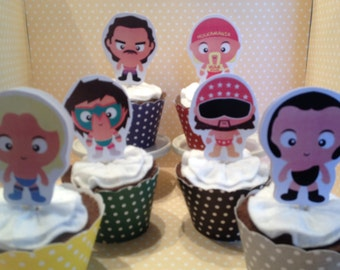 WWE Wrestling, Wrestlers Party Cupcake Toppers - Set of 10