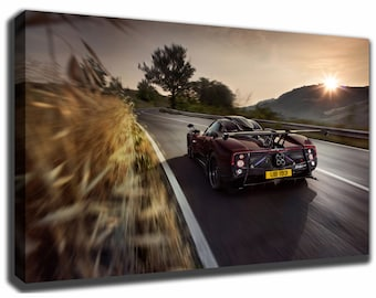 PAGANI ZONDA Canvas/Poster Wall Art Pin Up HD Gallery Wrap Room Decor Home  Decor