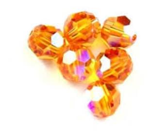 5000 6mm Topaz AB Bead, Swarovski crystal, Crystal Passions®, 6mm Topaz AB - pack of 26