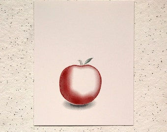 Red Apple || 5-Color Screen Print