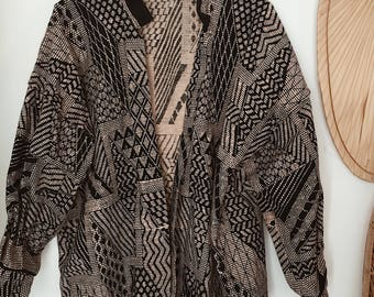 Earthy Jacket • Black and taupe