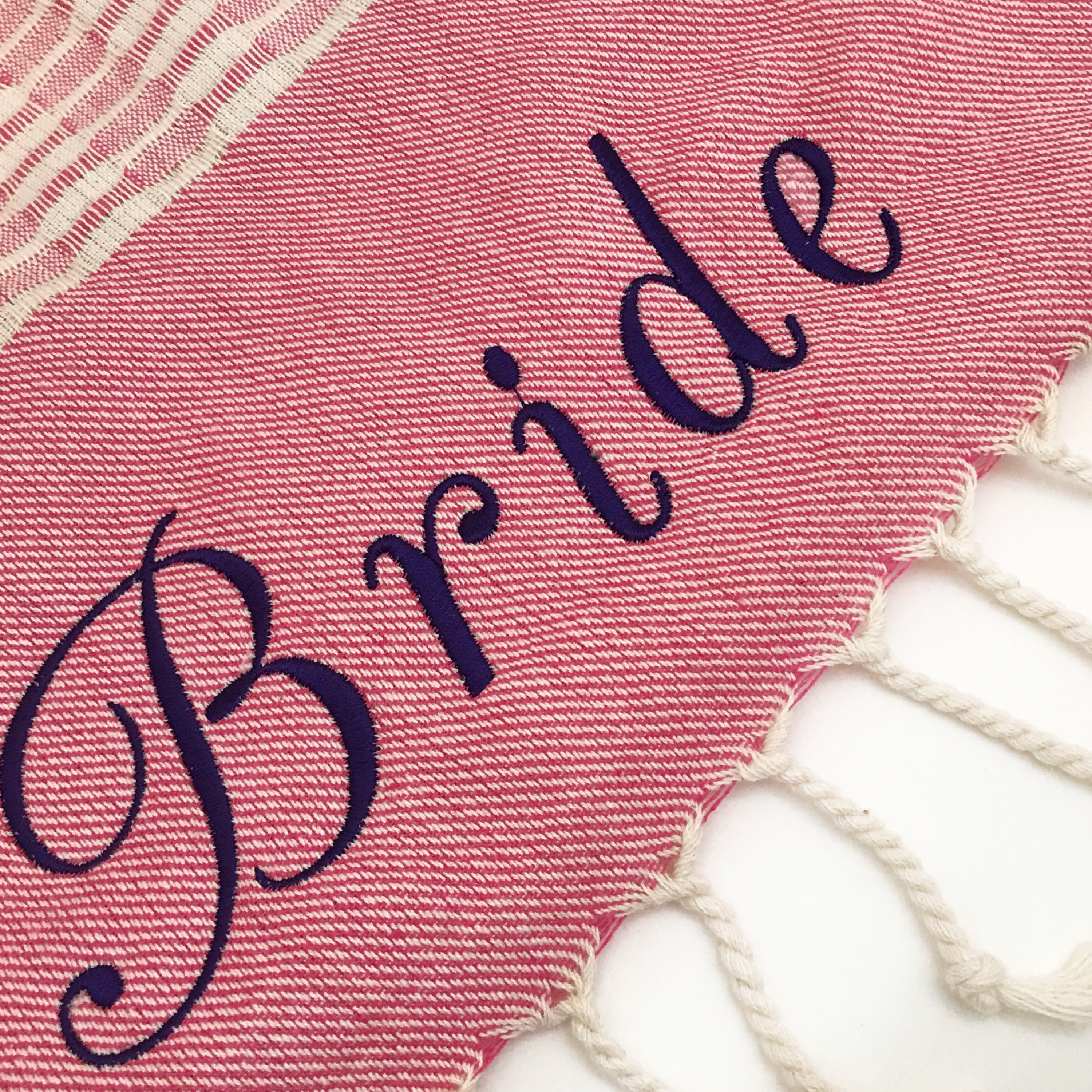 Engagement Gift Bridesmaid Gift Personalized Beach Towel