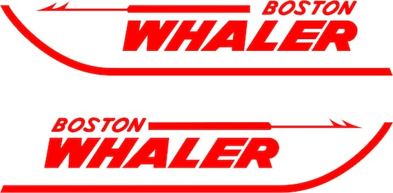 Boston whaler replacement decals free shipping in usa from 3doglogos on etsy studio