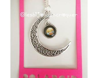 Necklace cameo Moon emoji charm 2