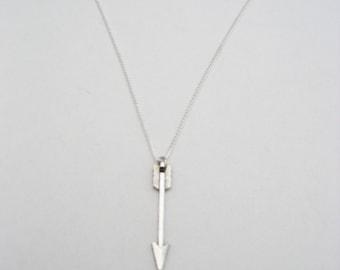 Silver Arrow Necklace, Arrow Jewelry, Archery Necklace, Archery Jewelry, Archer Gift, Sports Jewelry, Gifts Under 20