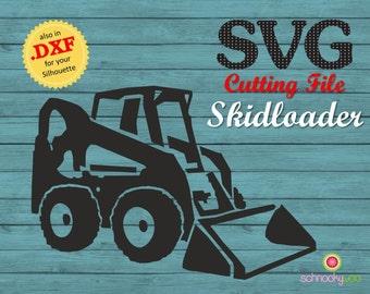 Skidloader SVG, skid-steer loader, skid-steer SVG, skid steer, Design Tractor, Construction SVG,  skid loader, skidsteer