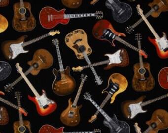 Black Groovy Guitars electric guitar band Curtain Valance