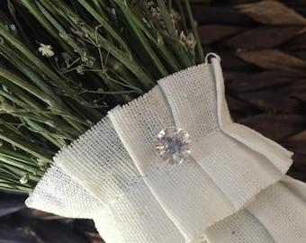 Rhinestone Floral Pin