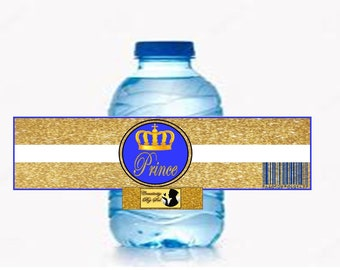 Prince Crown Water Bottle Labels