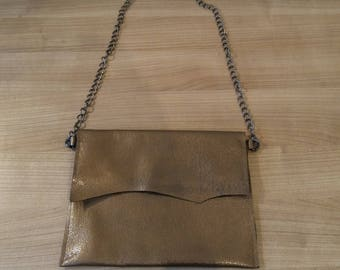 Bronze purse with flap