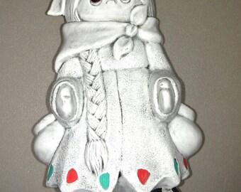 Mt. Saint Helens Volcanic Ash Little Indian girl sculpture
