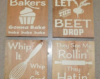 8x8 Fun Kitchen sign