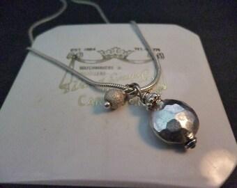"""Unique vintage sterling silver pendant necklace - 925 - 16"""" necklace - 1"""" pendant"""