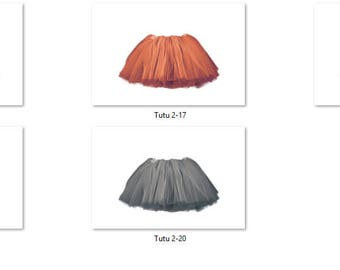 Tutu 2 Overlays Pack 4 Same Tutu 5 different colors Pastel Bright Photoshop PNG Translucent Background
