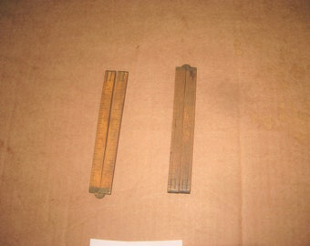 Stanley & C-S Wooden 2 ft Folding Rulers