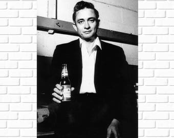 Johnny Cash - Portrait - 1960s - Photo - Nashville - Rockabilly - Country Music - Man in Black - Country Western - Art - Vintage - Man Cave