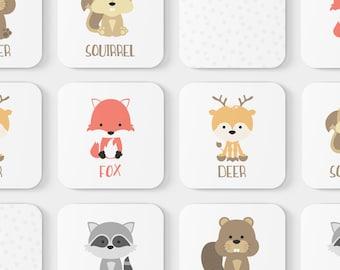 Animal Match Game | Educational Toy | Toddler Game | Memory Game | Woodland Animal | Learning Toy | Toddler Birthday | Kids Gift | Preschool