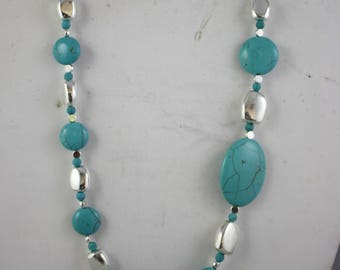 necklaces, turquoise and silver necklaces, chunky necklaces, strung necklaces, turquoise necklaces, silver necklaces, asymmetrical necklaces