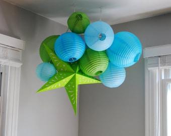 Customizable Paper Lantern Cluster Mobiles