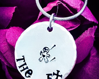 The Ex Hand Stamped Necklace. Voodoo Doll Necklace, Voodoo Doll Jewellery, Voodoo Jewellery, Ex Boyfriend, Ex Girlfriend, Breakup Gift