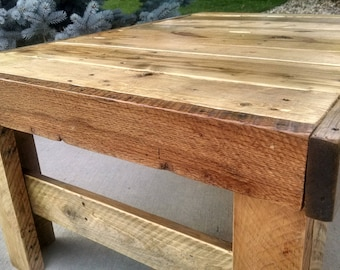 Re-claimed pine coffee table