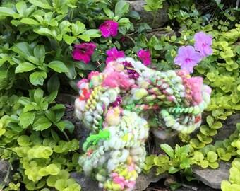 """Handspun Art Yarn """"Shade Garden"""""""