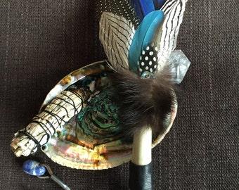 Spirit of Vision Smudge Fan, smudge fan, feather fan, smudge feather, smudge kit, smudging, shaman, Wicca, prayer fan, ritual, pagan, tools