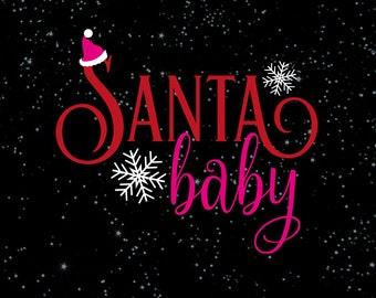 Christmas SVG Cut File   Santa Baby svg   Silhouette svg   Cricut svg   Christmas SVG design   Christmas SVG sayings