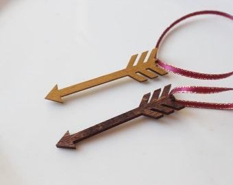 Pi Beta Phi Ornament // Arrow Wooden Ornament // Sorority Christmas Gift // Pi Phi Arrow Ornament