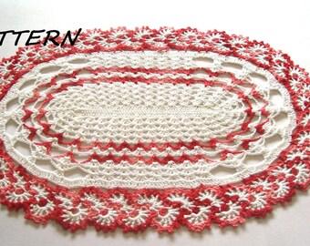CROCHET Oval Doily Pattern, Crochet Doily pattern, Enchanting Oval Lace Doily Pattern, Digital/ PDF crochet pattern, Instant download