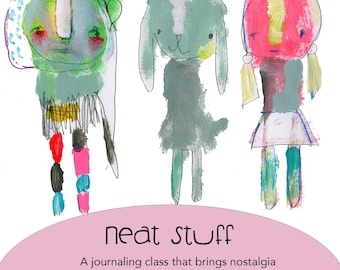 Retirement SALE! Neat Stuff online journaling workshop by Mindy Lacefield