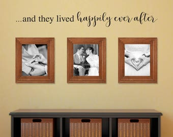 And they lived Happily Ever After Decal - Gallery Wall Decor - Couple Decal