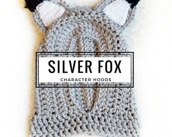 Silver Fox Hood: Fox Costume, Toddler Costume, Hooded Scarf, Cowl, Hood Costume, Montessori, Confidence Hoods, Character, Social Skills