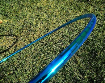 "Ocean Morph HDPE or POLYPRO Performance Dance & Exercise Hula Hoop - color changing 5/8"" 3/4"" translucent blue green"