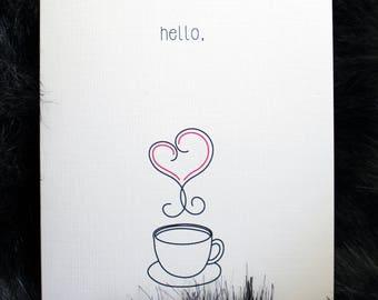 Hello Coffee Card Set