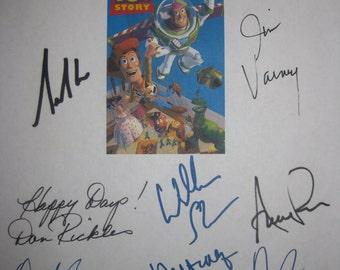 Toy Story Signed Film Movie Screenplay Script  Autograph Tom Hanks Tim Allen Don Rickles Jim Varney Annie Potts Laurie Metcalf R. Lee Ermey