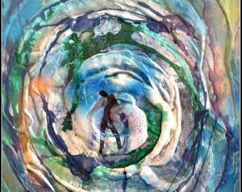 Fine Art Print, abstrakte Kunst, Figurative Kunst, moderne Kunst-Druck, Giclée-Druck auf Papier, Schlafzimmer-Wand-Kunst, zeitgenössische Kunst, neue Büro-Geschenk