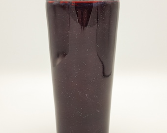 Dark Blood Red Black Cherry | Alcohol Ink | 24 oz | Stainless Steel | Hot Ice Cold Tumbler | Drink Cup