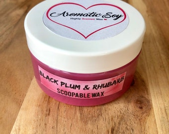Black Plum & Rhubarb - Handmade Scoopable Soy Wax - Aromatic Soy