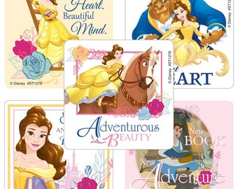 "25 Beauty and the Beast Belle Stickers, 2.5"" x 2.5"" Each"