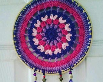 Crochet mandala dream catcher