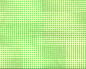 Lime green small PLAID fabric