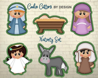 Nativity Cookie Cutters / Cookie Cutters / Christmas Cookie Cutter  / 3D Printed Cookie Cutters